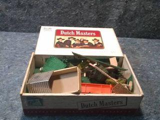 Box of Small HO Model Train buildings