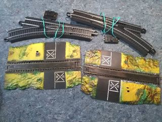 HO Model Train Track Switches and Road Crossings
