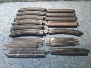 38 Sections of HO Model Train Track
