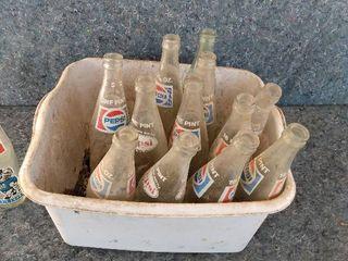 vintage Coke and Pepsi bottles
