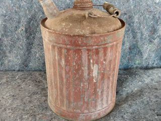 small vintage metal gas can