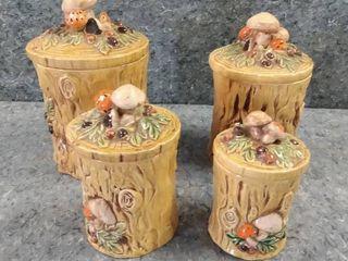 lot of Mushroom Canisters