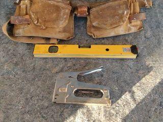 tool belt laser level staple gun