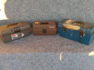 three tool boxes