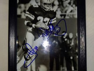 original signature Tony dorsett photo