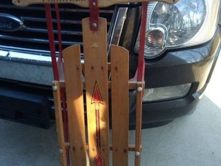 radio flyer metal sled good shape