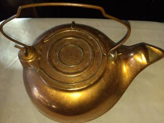 heavy copper clad cast kettle