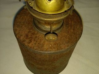 old railroad lantern tin metal with D RG RR