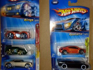 five 2003 to 2005 hot wheels