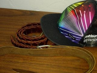men s leather belts and a Washburn University Hurley cap