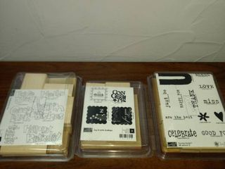 three New in package stampin  up stamp sets