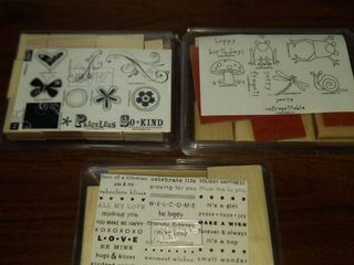another set of three stampin  up stamp sets new in package