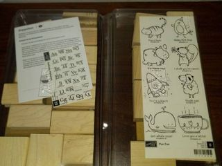 large stampin  up sets alphabet and cute characters
