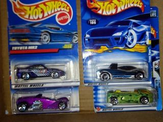 1999 through 2000 hot wheels total of four