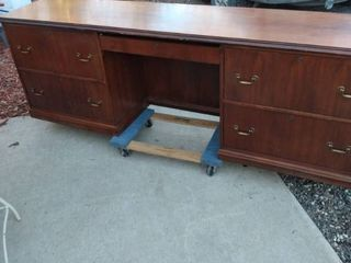 Inwood executive office desk 89 in long 20 in deep 30 in tall has scratches and other blemishes