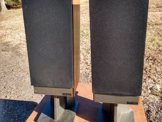 pair of mission speakers