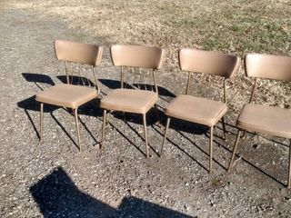 4 Virtue Brothers of California vintage vinyl chairs