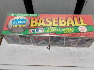 1990 Fleer baseball set factory sealed one end has been opened