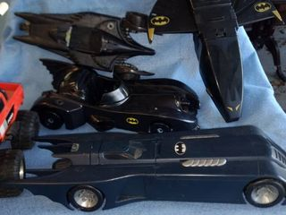 batmobiles other Batman toys and miscellaneous
