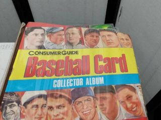 baseball card album with mixed comic book cards 40 pages