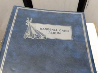 baseball card album with 47 pages of rookies stars and others including Cal ripken Darryl strawberry Fred McGriff Don mattingly Mark McGwire and others