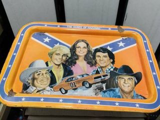 1981 dukes of Hazzard tray has some damage