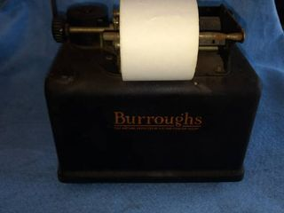 antique Burroughs receipt printer