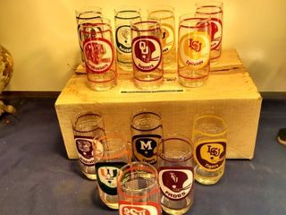 13 vintage college football glasses collector series