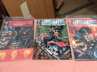 3 Terminator hunters and killers comic books