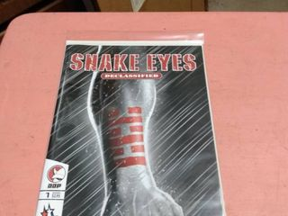 number 1 issue GI Joe Snake eyes declassified