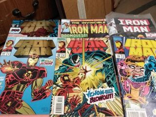 6 iron Man comics