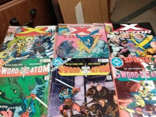 3 Xfactor comics and 3 sword of the atom comics