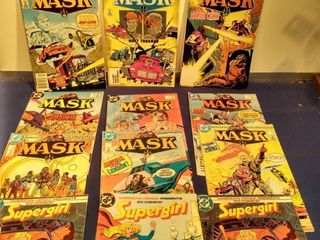 12 comics consisting of 9 mask and 3 Supergirl