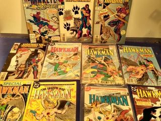 11 comics consisting of 4 Hawkeye and 7 hawkman