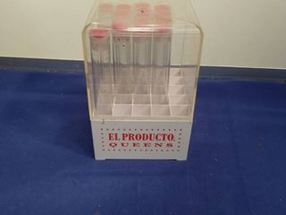 plastic El producto Queens cigar box with 11 plastic tubes