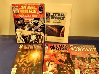 5 Star wars comics and book