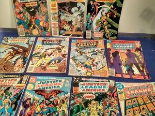 11 Justice league of America comic books