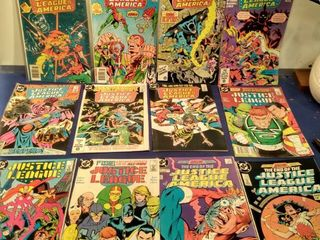 16 Justice league of America comics