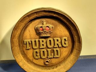 vintage Tuborg Gold sign