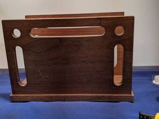 Walnut magazine rack