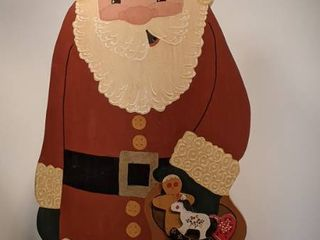 wooden Santa Claus 25 and a half inches tall