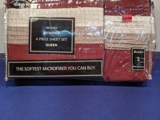 regatta microfiber 6 piece sheet set queen size new in package