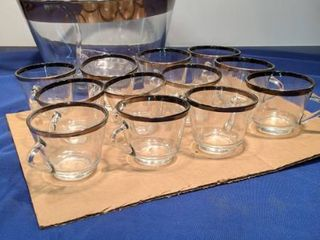 set of 12 punch bowl set
