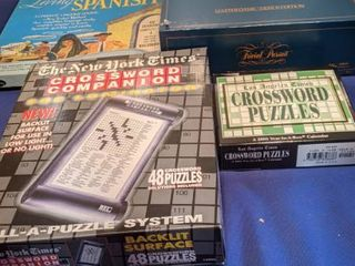 trivia pursuit crossword puzzle and living Spanish games