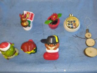1980 Hallmark ornament and various other Christmas items