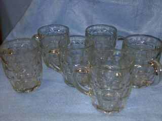 ravenhead mugs Germany set of six bubble Glass