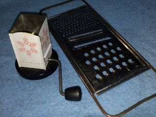 antique jar top shredder and cheese shredder