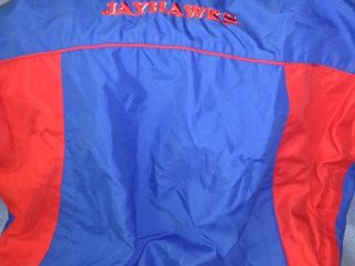 jayhawk pullover fleece lined small tear under left arm size medium
