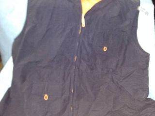 exhilaration size 16 women s windbreaker vest with hood