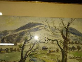 original painting beautiful frame needs repositioned